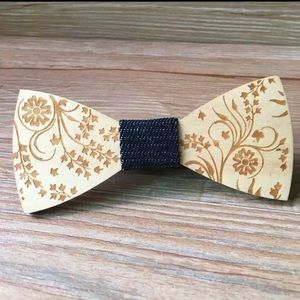 Other - Whimsical Unique Wooden Bow Tie